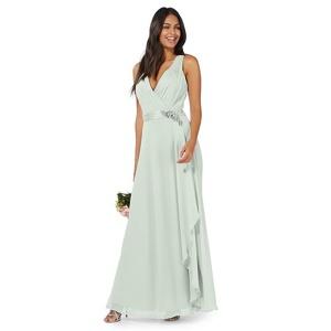 No. 1 Jenny Packham Light Green 'lily' Evening Dress