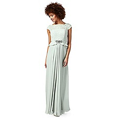 No. 1 Jenny Packham - Light green 'Selena' evening dress