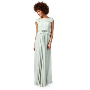 No. 1 Jenny Packham Light Green 'selena' Evening Dress