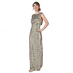 No. 1 Jenny Packham - Light green 'Carrie' sequin embellished evening dress