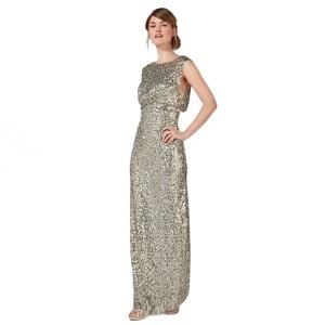 Plus Size No. 1 Jenny Packham Light Green 'carrie' Sequin Embellished Evening Dress