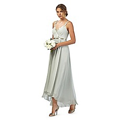 No. 1 Jenny Packham - Green 'Belgravia' v-neck evening dress