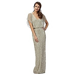 No. 1 Jenny Packham - Light green 'Anthea' beaded maxi dress