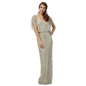 No. 1 Jenny Packham Light Green 'anthea' Beaded Maxi Dress