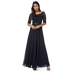 No. 1 Jenny Packham - Navy 'Selena' maxi dress