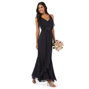 Plus Size No. 1 Jenny Packham Navy (Blue) 'mayfair' Stone Embellished Waist Evening Dress