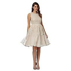 No. 1 Jenny Packham - Pink 'Roma' embellished prom dress