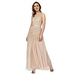 No. 1 Jenny Packham - Light pink 'Giselle' embellished maxi dress