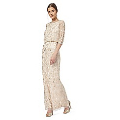 No. 1 Jenny Packham - Light pink floral beaded maxi dress