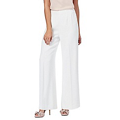 No. 1 Jenny Packham - White 'Sorrenio' wide leg trousers