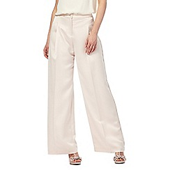 No. 1 Jenny Packham - Cream 'Burlington' wide leg formal trousers