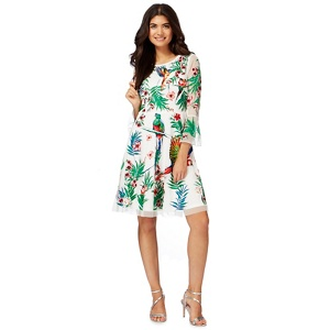 Butterfly by Matthew Williamson White paradise embroidered dress