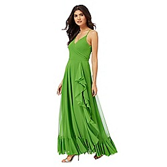 Butterfly by Matthew Williamson - Green ruffle maxi dress