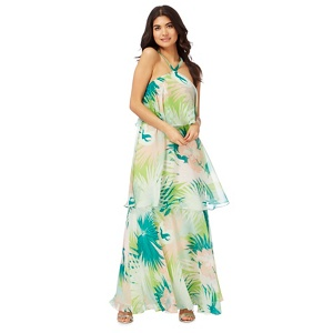 Butterfly by Matthew Williamson Multi-coloured palm leaf print maxi dress