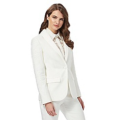 Siren by Giles - Ivory lace 'Clara' tux jacket