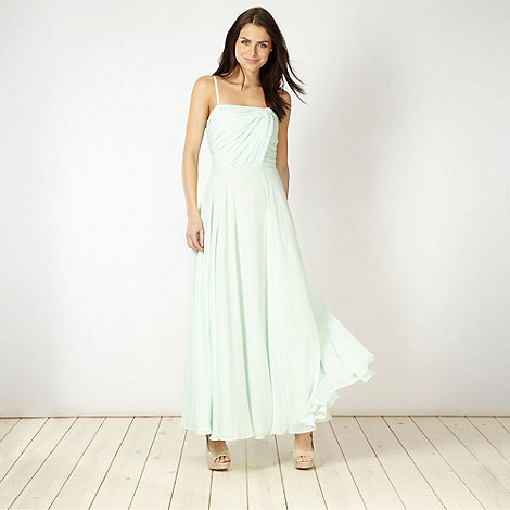 Diamond by Julien Macdonald - Light green knot detail maxi dress
