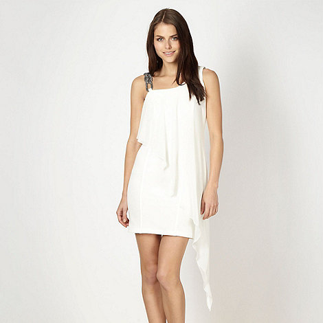 Diamond by Julien Macdonald - Designer white chain strap waterfall dress
