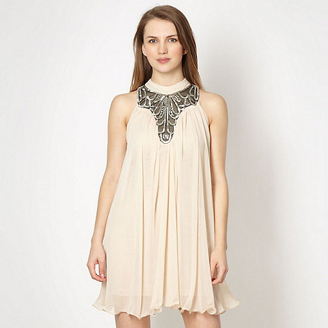 Diamond by Julien Macdonald - Designer cream beaded neck party dress