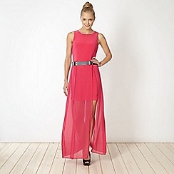 Diamond by Julien Macdonald - Designer pink belted maxi dress