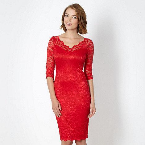 Diamond by Julien Macdonald - Designer red lace dress