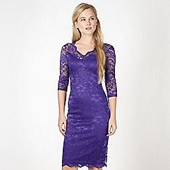Diamond by Julien Macdonald - Designer purple lace dress