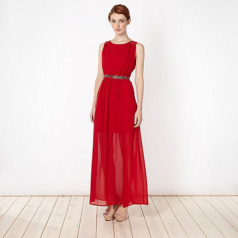 Diamond by Julien Macdonald - Designer red embellished maxi dress