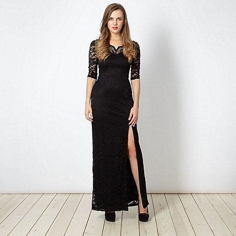 Diamond by Julien Macdonald - Designer black lace maxi dress