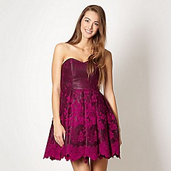Diamond by Julien Macdonald - Purple lace petticoat dress