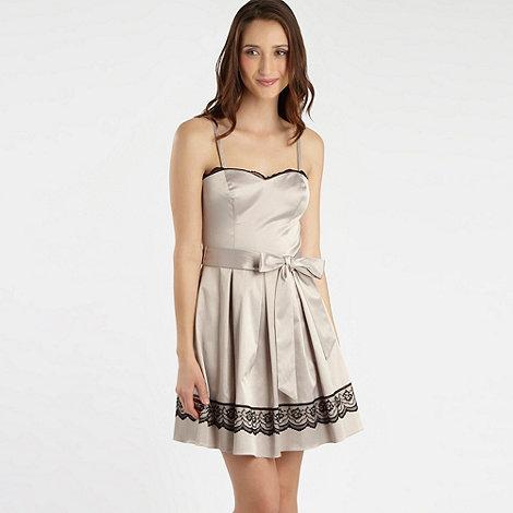 Diamond by Julien Macdonald - Natural lace trim prom dress
