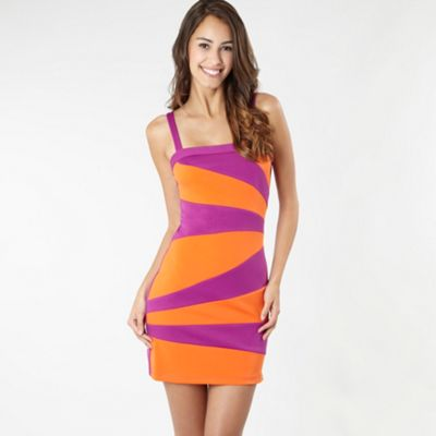 purple and orange dress