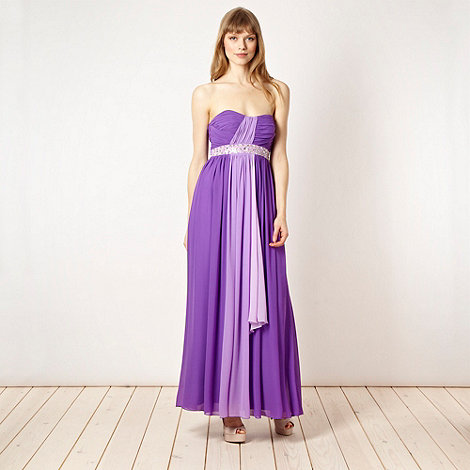 Diamond by Julien Macdonald - Designer purple strapless dress