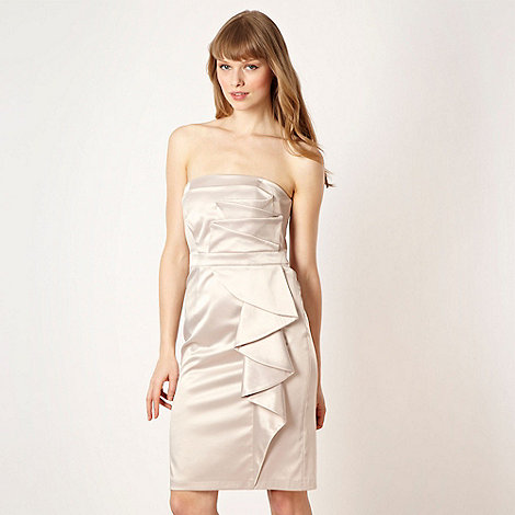 Diamond by Julien Macdonald - Designer cream ruffled waterfall dress
