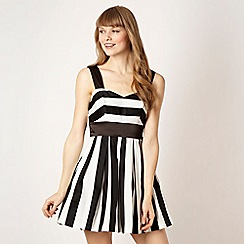 Diamond by Julien Macdonald - Designer striped flared skirt prom dress