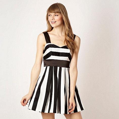 Diamond by Julien Macdonald - Designer striped flared skirt prom dress