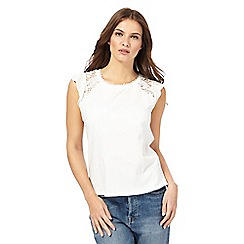 Nine by Savannah Miller - White lace detail top