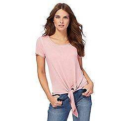 Nine by Savannah Miller - Pink knotted hem top