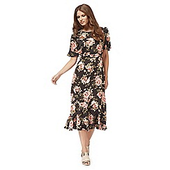 Nine by Savannah Miller - Rose floral midi dress