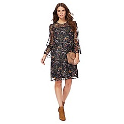 Nine by Savannah Miller - Multi-coloured floral print knee length shift dress