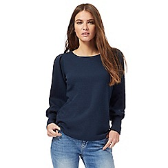 Nine by Savannah Miller - Navy ribbed long cuff top