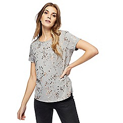 Nine by Savannah Miller - Grey foil-effect star print t-shirt