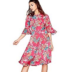 Nine by Savannah Miller - Pink floral print midi tea dress