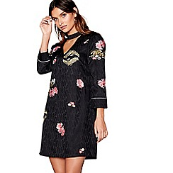 Nine by Savannah Miller - Black embroidered mini tunic dress