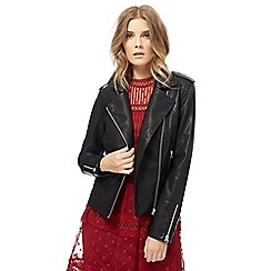 Nine by Savannah Miller - Black quilted biker jacket
