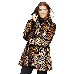Nine by Savannah Miller - Multi-coloured leopard print faux fur coat