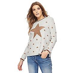 Nine by Savannah Miller - Light grey star print jumper