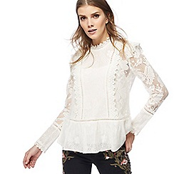 Nine by Savannah Miller - Ivory mixed lace top