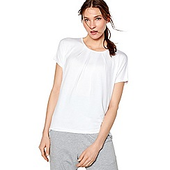 Nine by Savannah Miller - Ivory pleated t-shirt