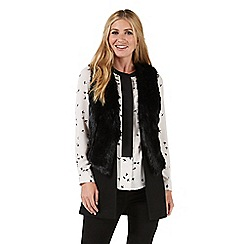 Nine by Savannah Miller - Black double layered faux fur gilet