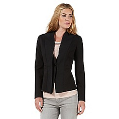 Nine by Savannah Miller - Black ponte notch neck blazer