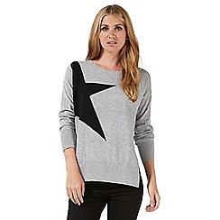 Nine by Savannah Miller - Grey star print jumper